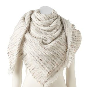 🌸 Boucle Blanket Square Scarf